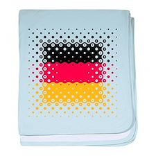 Flag of Germany / Deutschlandflagge baby blanket