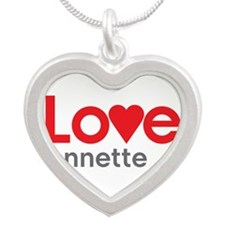 I Love Annette Silver Heart Necklace