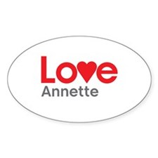 I Love Annette Decal