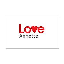 I Love Annette Car Magnet 20 x 12