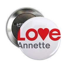 "I Love Annette 2.25"" Button"