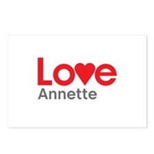 I Love Annette Postcards (Package of 8)