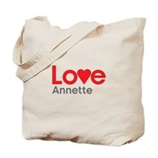 I Love Annette Tote Bag