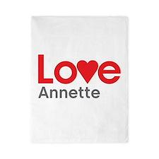 I Love Annette Twin Duvet