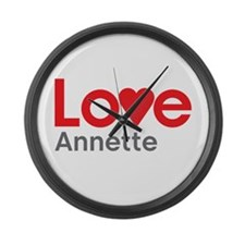 I Love Annette Large Wall Clock