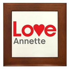 I Love Annette Framed Tile