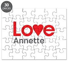 I Love Annette Puzzle