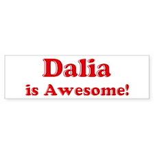 Dalia is Awesome Bumper Car Sticker