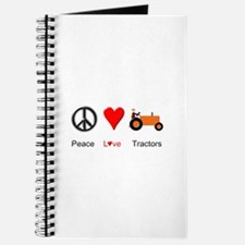 Peace Love Orange Tractor Journal