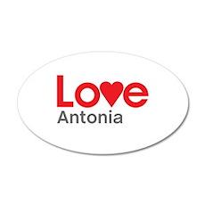 I Love Antonia Wall Decal