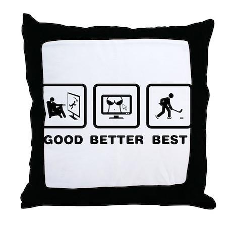 Ice Hockey Throw Pillow