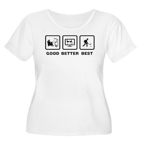 Ice Hockey Women's Plus Size Scoop Neck T-Shirt