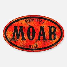 Moab Safety Orange Derelict Sticker (Oval)