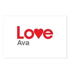 I Love Ava Postcards (Package of 8)