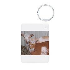 Unique Fainting goat Keychains
