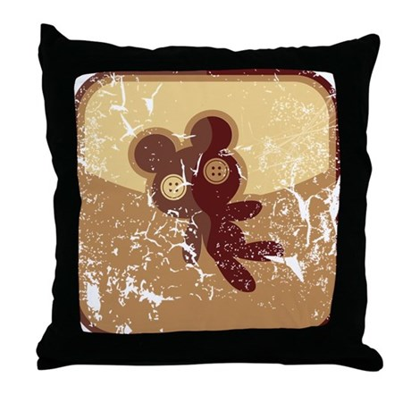 Throw Pillows Uses : Teddybar-Symbol (used) Throw Pillow by listing-store-75429622