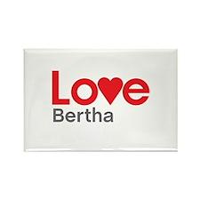 I Love Bertha Rectangle Magnet (100 pack)