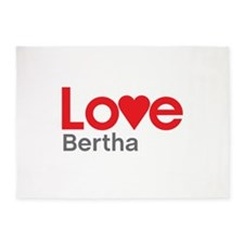I Love Bertha 5'x7'Area Rug