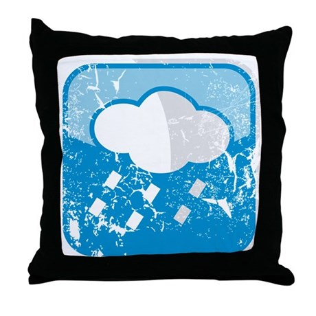 Throw Pillow Uses : regenwolke-symbol (used) Throw Pillow by listing-store-75429622