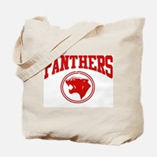 Panther Circle Head RED Tote Bag