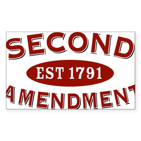 Second Amendment 1791 Oval Sticker
