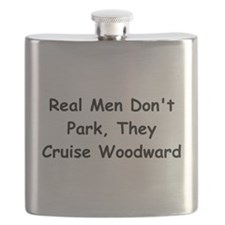 Real Men Don't Park They Cruise Woodward Flask