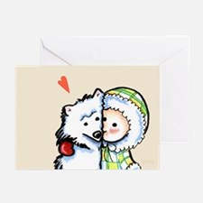 Boy n Dog Love Forever Greeting Cards (Pk of 10)