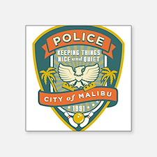 "The Big Lebowski Malibu Police Square Sticker 3"" x"