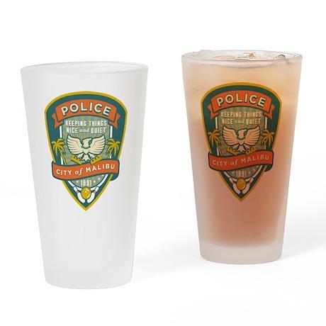 The Big Lebowski Malibu Police Drinking Glass