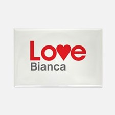 I Love Bianca Rectangle Magnet