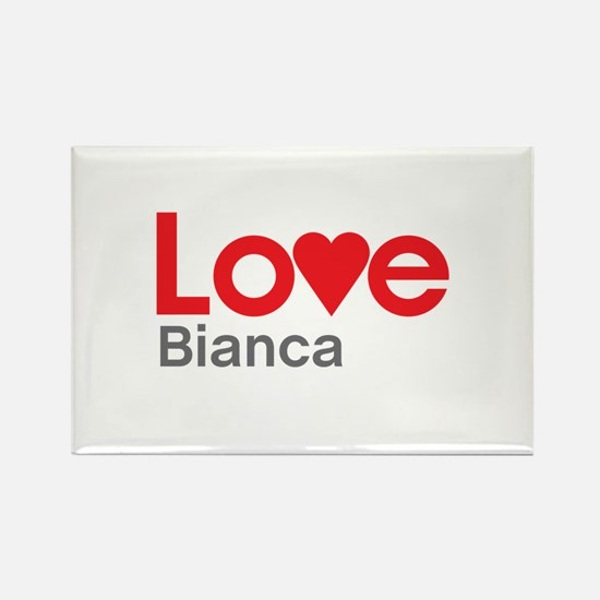 I Love Bianca Rectangle Magnet