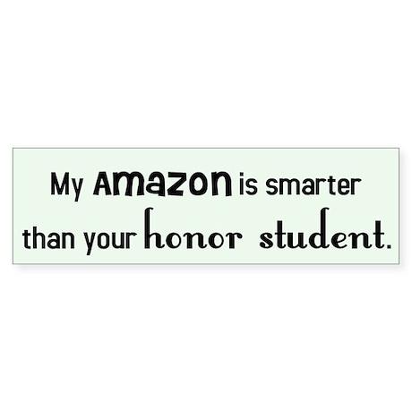 Amazon Parrot Honor Student Bumper Sticker