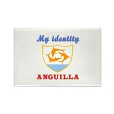 My Identity Anguilla Rectangle Magnet (10 pack)