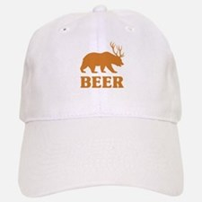 Bear+Deer=Beer Baseball Baseball Cap