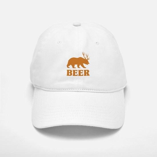 Bear+Deer=Beer Baseball Baseball Cap