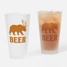 Bear+Deer=Beer Drinking Glass