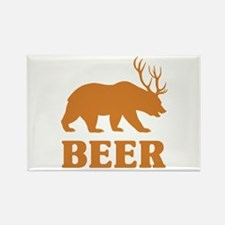 Bear+Deer=Beer Rectangle Magnet