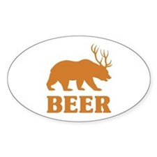Bear+Deer=Beer Decal
