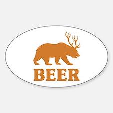 Bear+Deer=Beer Decal