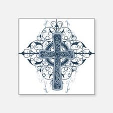 "Celtic Cross Square Sticker 3"" x 3"""