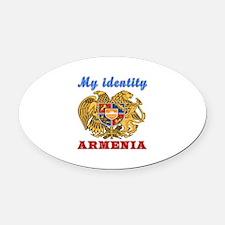 My Identity Armenia Oval Car Magnet