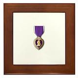 Purple heart military Framed Tiles