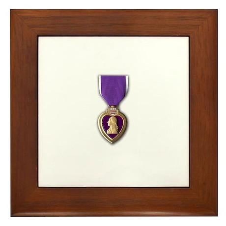 Purple Heart Medal Framed Tile