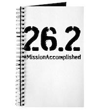Full Marathon: Mission Accomplished (Black) Journa