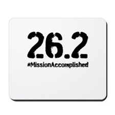 Full Marathon: Mission Accomplished (Black) Mousep