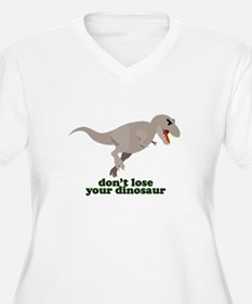 Don't Lose Your Dinosaur Plus Size T-Shirt