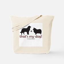 Newfoundland/Collie Tote Bag