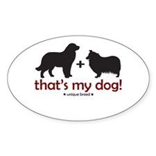 Newfoundland/Collie Oval Decal