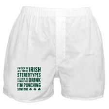 Irish Stereotypes Boxer Shorts