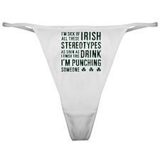 Irish Stereotypes Classic Thong